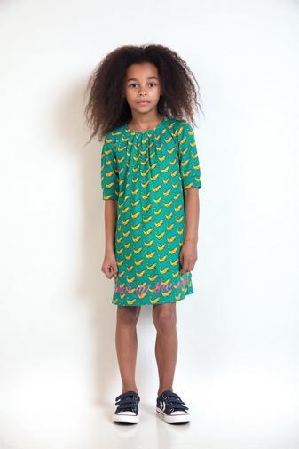 Turkooizen jurk met print